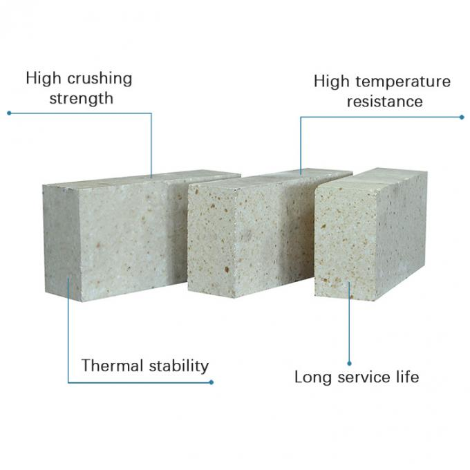 Reheating Furnace High Alumina Refractory Bricks 1400 - 1600 Working Temp